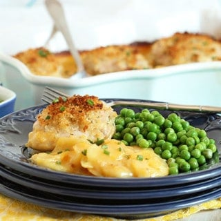 Crispy Baked Chicken Thighs with Scalloped Potatoes