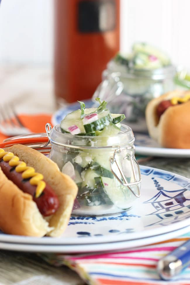 The Very Best Creamy Cucumber Salad   The Suburban Soapbox #greatergrilling #hebrewnational