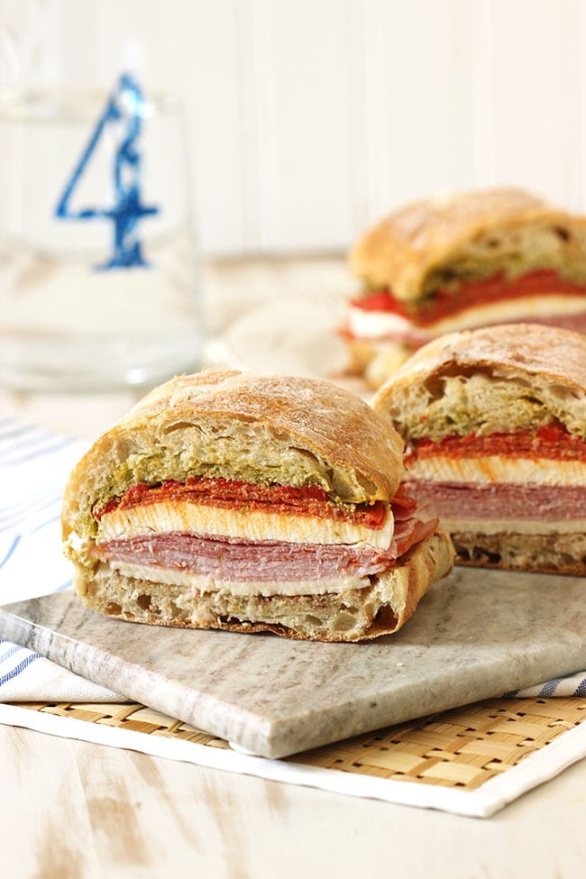 Pressed Italian Picnic Sandwich | The Suburban Soapbox #tailgating