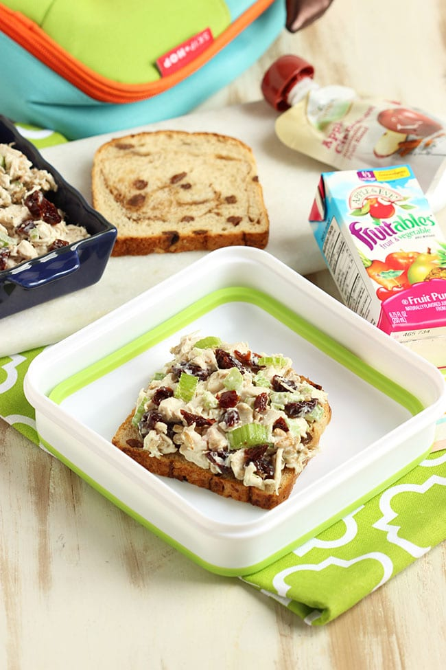 Chicken Salad with Dried Cherries and Sunflower Seeds | The Suburban Soapbox #ALDI #BacktoSchool