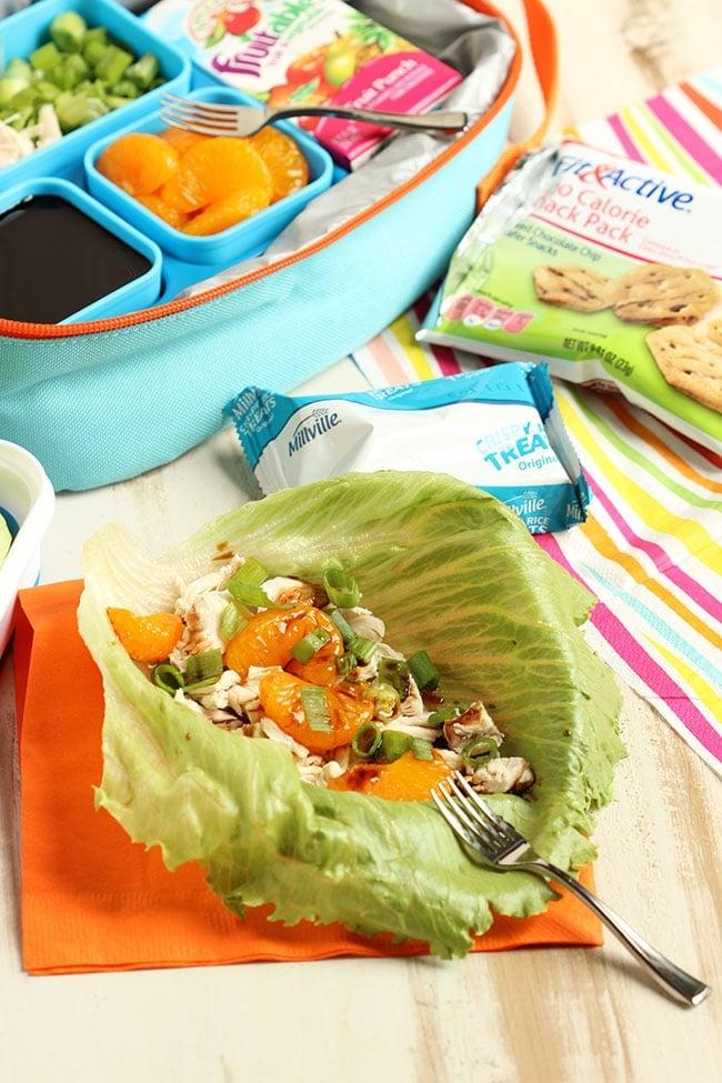 Asian Chicken Lettuce Wrap | The Suburban Soapbox #ALDI #BackToSchool