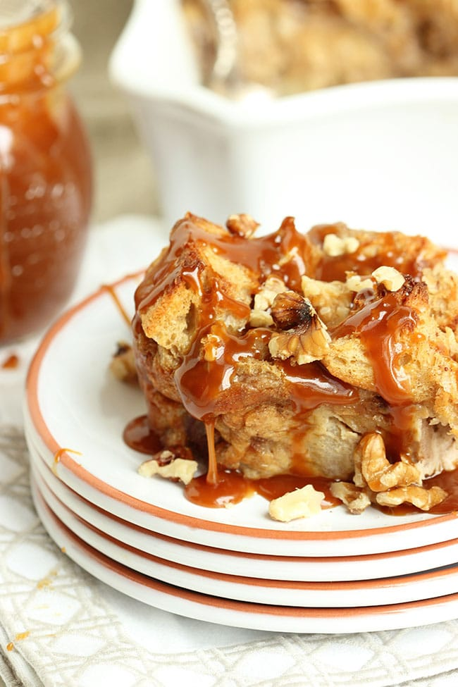 Caramel Apple Bread Pudding | The Suburban Soapbox