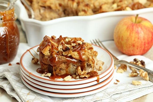 Caramel Apple Bread Pudding - The Suburban Soapbox