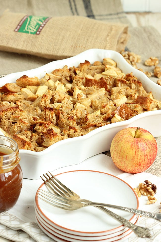 ... Caramel Apple Bread Pudding is the most incredible dessert for fall