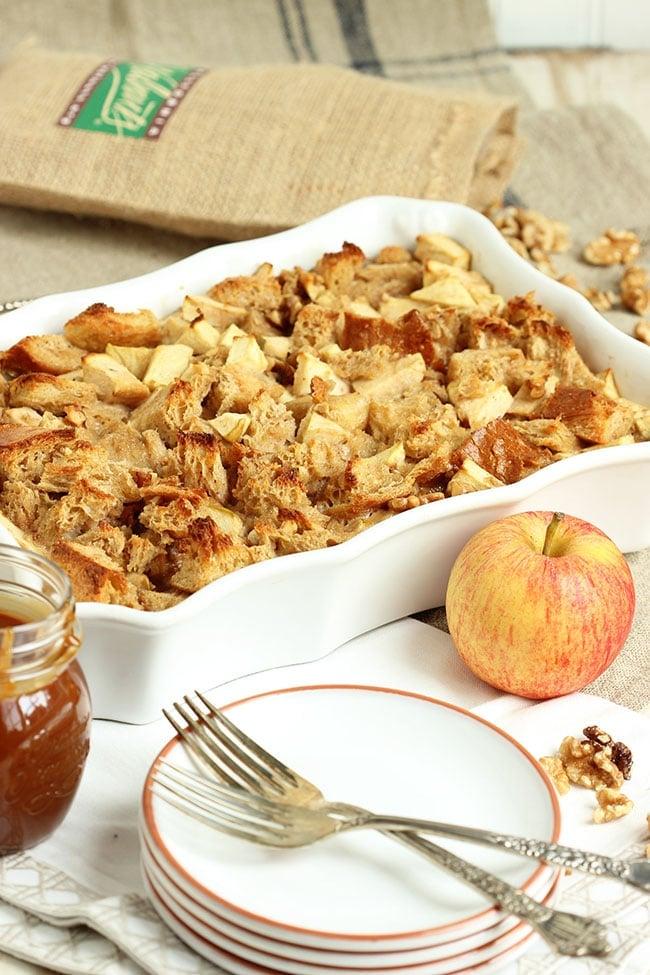 Caramel Apple Bread Pudding | The Suburban Soapbox