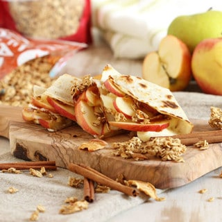 Crunchy Caramel Apple and Brie Quesadilla