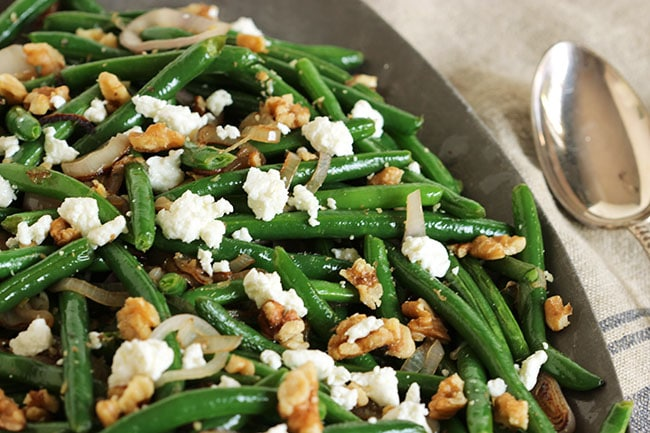 Green Beans with Goat Cheese, Shallots and Walnuts - The Suburban ...