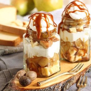Spiced Pear Poundcake Trifle