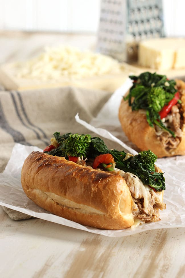 Philly Style Roast Pork Sandwich | The Suburban Soapbox #slowcooker