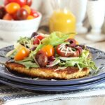 Chicken Milanese with Artichokes, Kalamata Olives and Maple Dijon Dressing