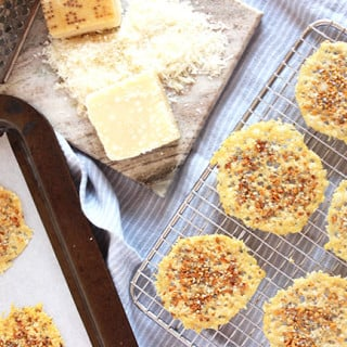 Two-Ingredient Everything Parmesan Crisp | The Suburban Soapbox