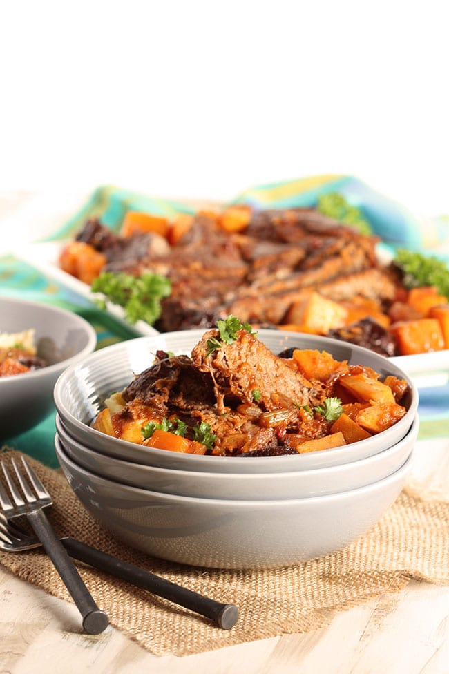 Pot Roast with Butternut Squash and Dried Plums | The Suburban Soapbox #slowcooker
