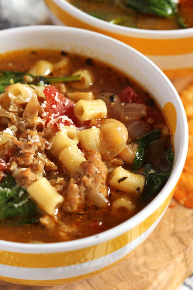Italian Sausage Soup With White Beans And Spinach Video