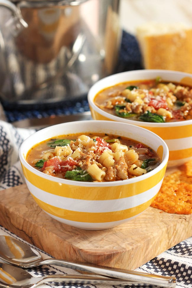 Italian sausage soup with white beans and spinach video the italian sausage soup with white beans and spinach the suburban soapbox forumfinder Image collections