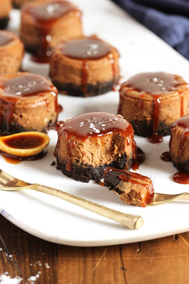 Salted Caramel Mocha Cheesecakes | The Suburban Soapbox #FoundMyDelight