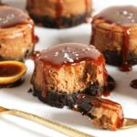 Salted Caramel Mocha Cheesecakes