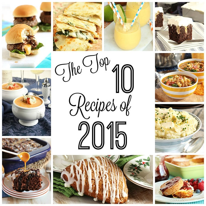 Top 10 Recipes of 2015 | TheSuburbanSoapbox.com