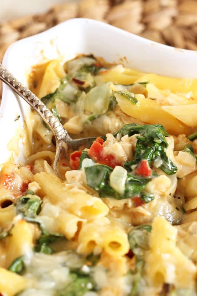 Chicken florentine pasta bake recipe | Food fox recipes