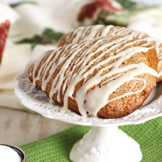Gingerbread Scones with Eggnog Glaze