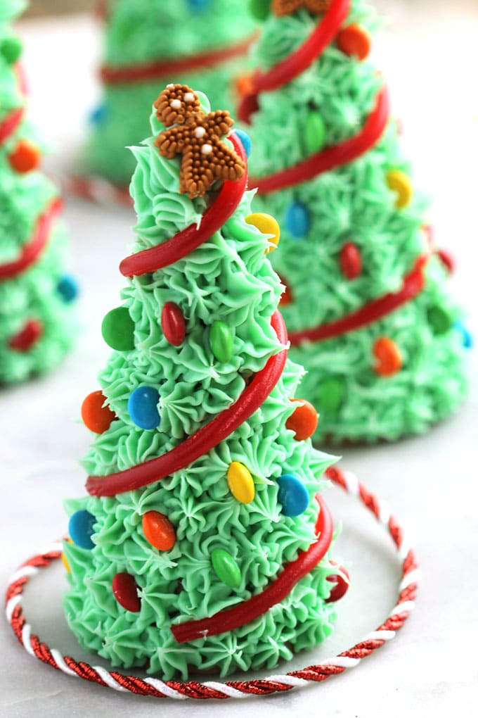Super easy to make Sugar Cone Christmas Trees are fun for kids and the best holiday activity. | TheSuburbanSoapbox.com