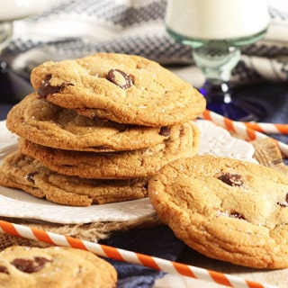 Nutella Stuffed Salted Browned Butter Chocolate Chip Cookies