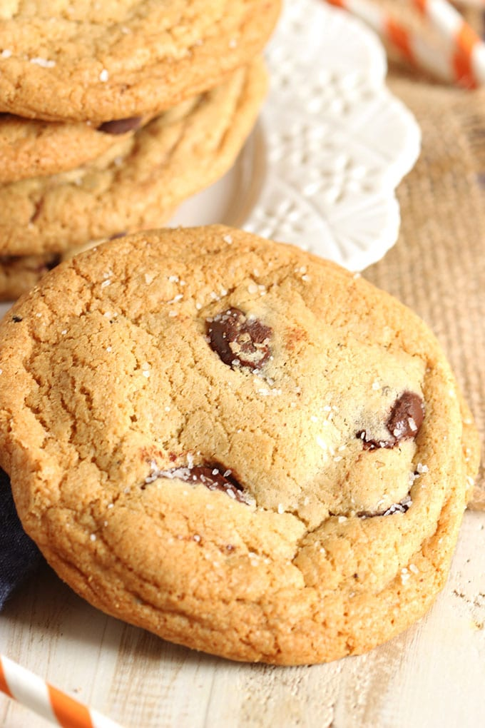 Nutella Stuffed Salted Browned Butter Chocolate Chip Cookies  | The Suburban Soapbox