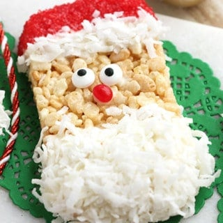 Santa Rice Krispie Treats