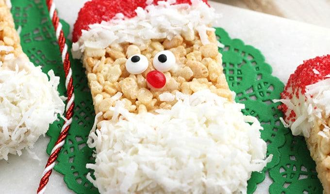 Santa Rice Krispie Treats