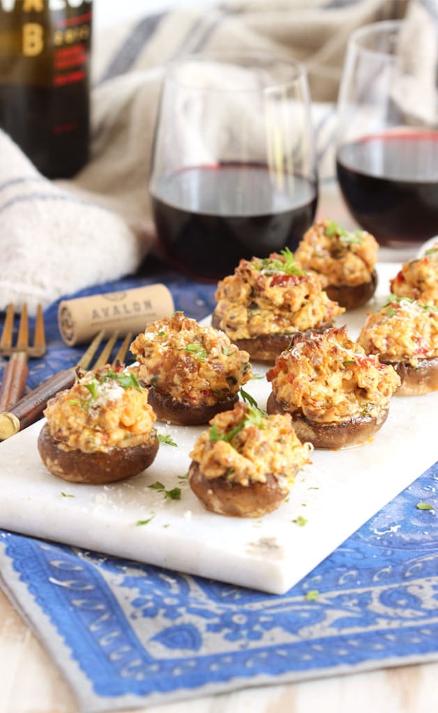 Sweet and Spicy Sausage Stuffed Mushrooms - The Suburban ...