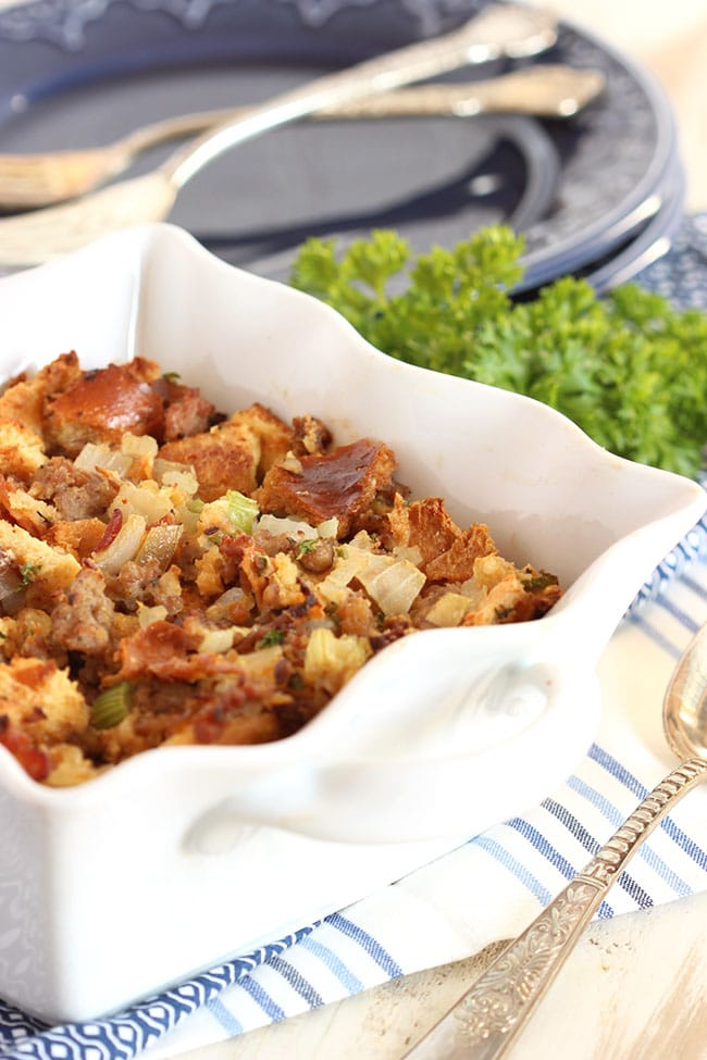 Sausage and Chestnut Stuffing | The Suburban Soapbox