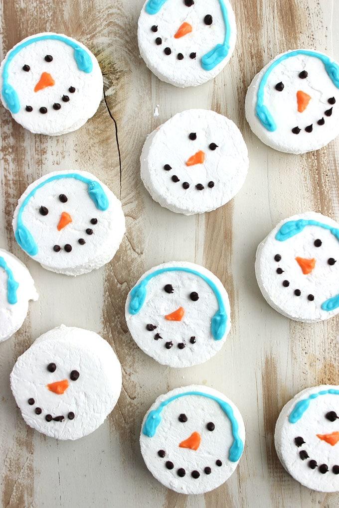 Snowman Marshmallow Hot Cocoa Toppers   The Suburban Soapbox