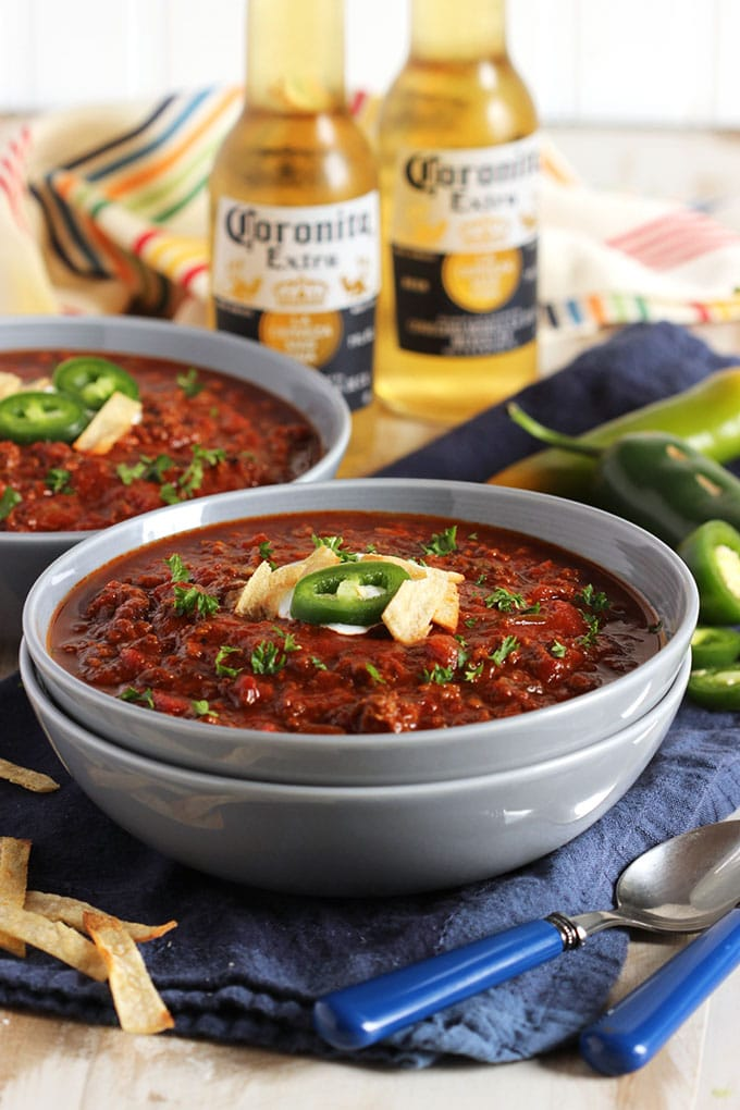 Slow Cooker Sweet and Spicy Chili | The Suburban Soapbox