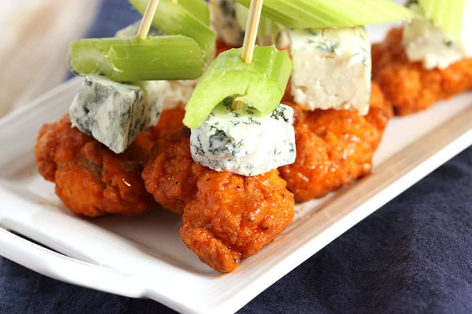 Buffalo Chicken Skewers with Spicy Avocado Ranch Dipping Sauce