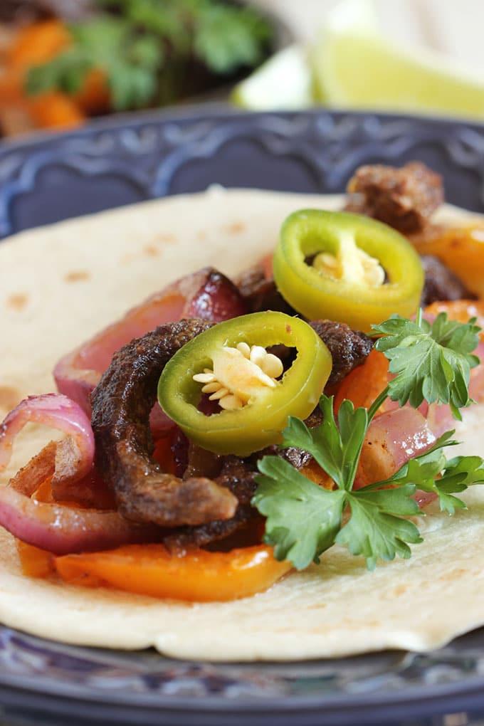 Sheet Pan Steak Fajitas | TheSuburbanSoapbox.com