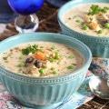 Creamy Chicken, Artichoke and Mushroom Soup