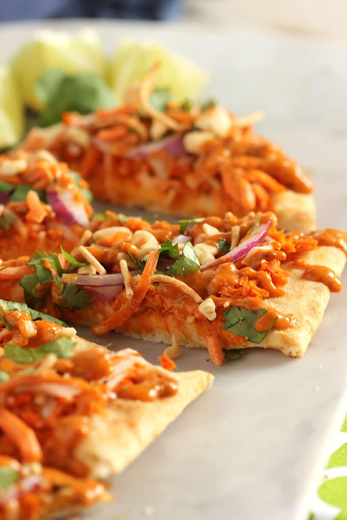 Sweet and Spicy Thai Salmon Flatbread | TheSuburbanSoapbox.com