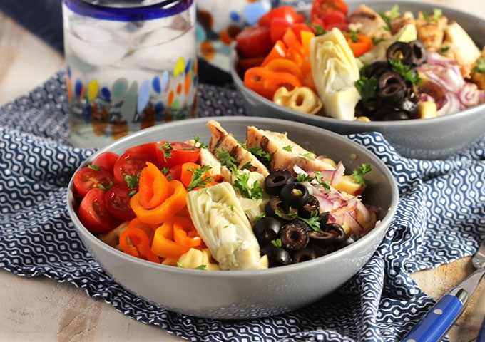Italian Tortellini Salad with Grilled Chicken