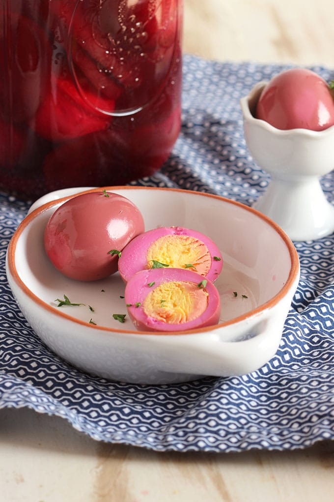 Pickled Red Beet Eggs….a longtime family tradition. Hard boiled eggs ...