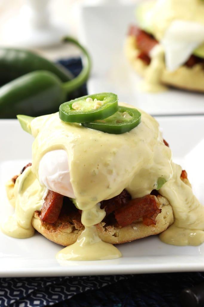 Southwestern Eggs Benedict with Jalapeño Hollandaise | TheSuburbanSoapbox.com