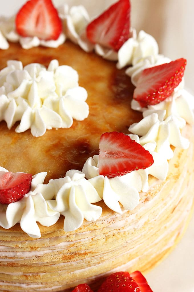 Strawberry Cream Crepe Cake Thesuburbansoapbox Com