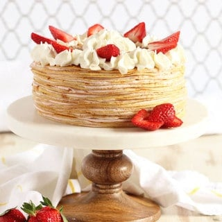 Strawberry Cream Crepe Cake