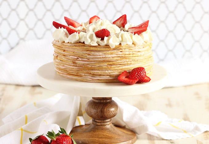 Strawberry Cream Crepe Cake