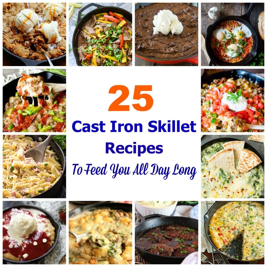 Cast Iron Skillet Collage