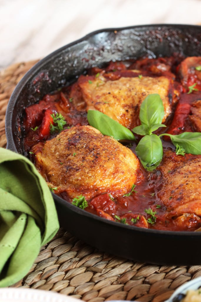 Easy Skillet Chicken Cacciatore | TheSuburbanSoapbox.com