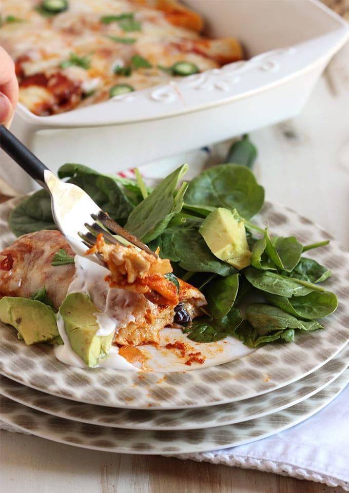 The Very Best Chicken Enchiladas | TheSuburbanSoapbox.com