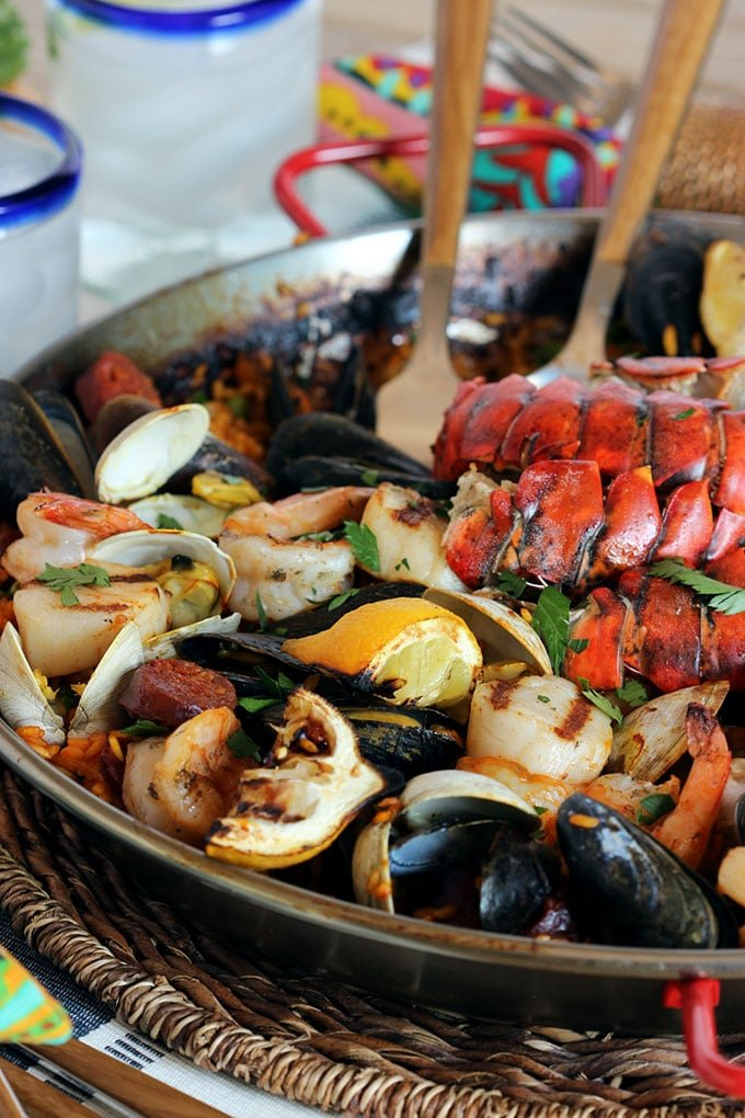 Grilled Seafood Paella The Suburban Soapbox
