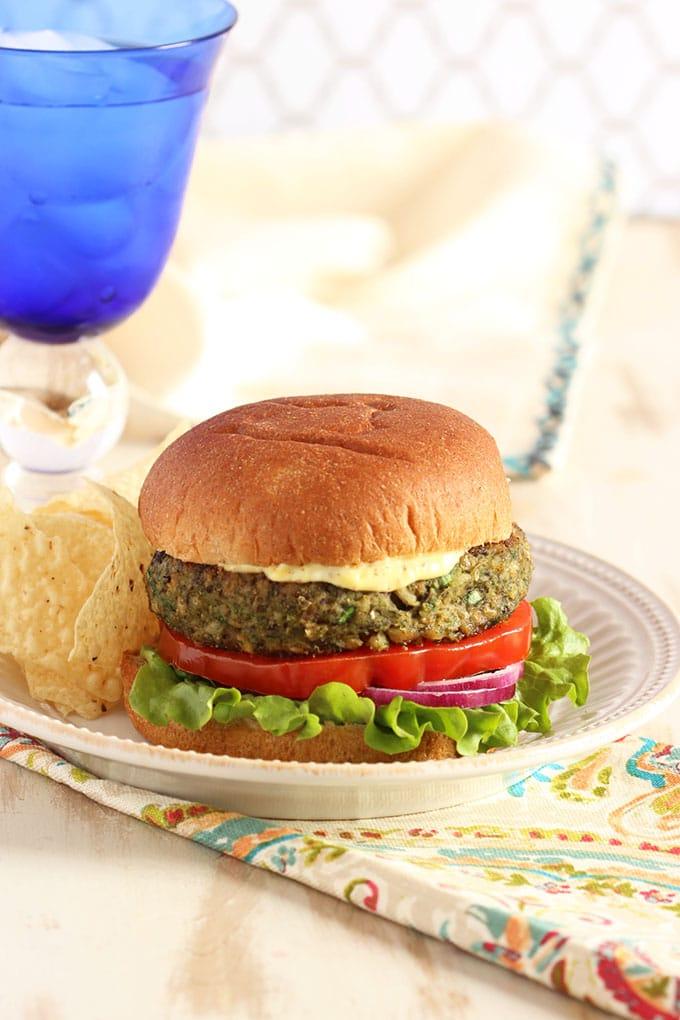 Mushroom White Bean and Farro Burger | TheSuburbansoapbox.com