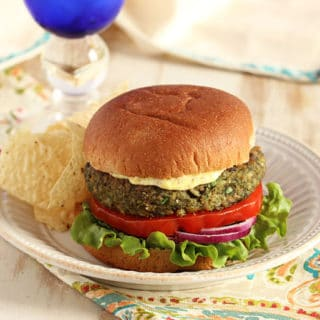 Mushroom White Bean and Farro Burger 9