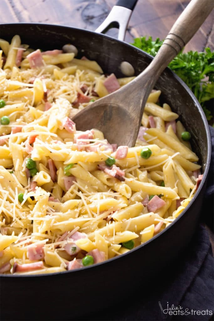 One-Pot-Ham-Penne-Skillet-JuliesEatsandTreats
