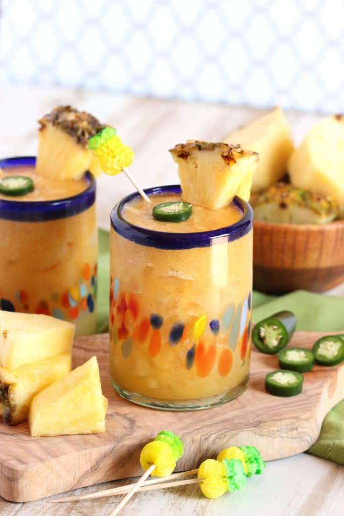 Spicy Roasted Pineapple Margarita | TheSuburbanSoapbox.com